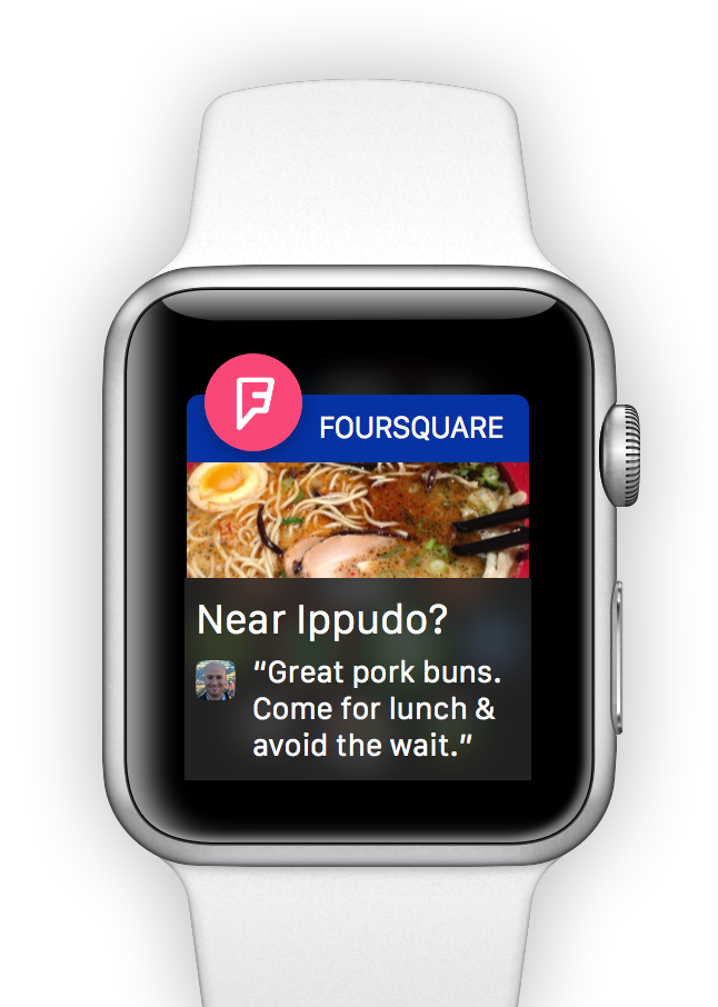 Foursquare para Apple Watch 2  Foursquare para Apple Watch