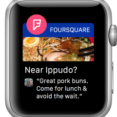 Foursquare para Apple Watch