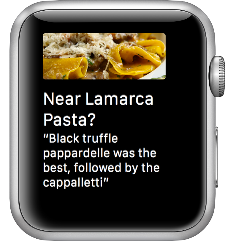 Foursquare para Apple Watch un vistazo  Foursquare para Apple Watch