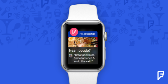 Foursquare para Apple Watch  Foursquare para Apple Watch